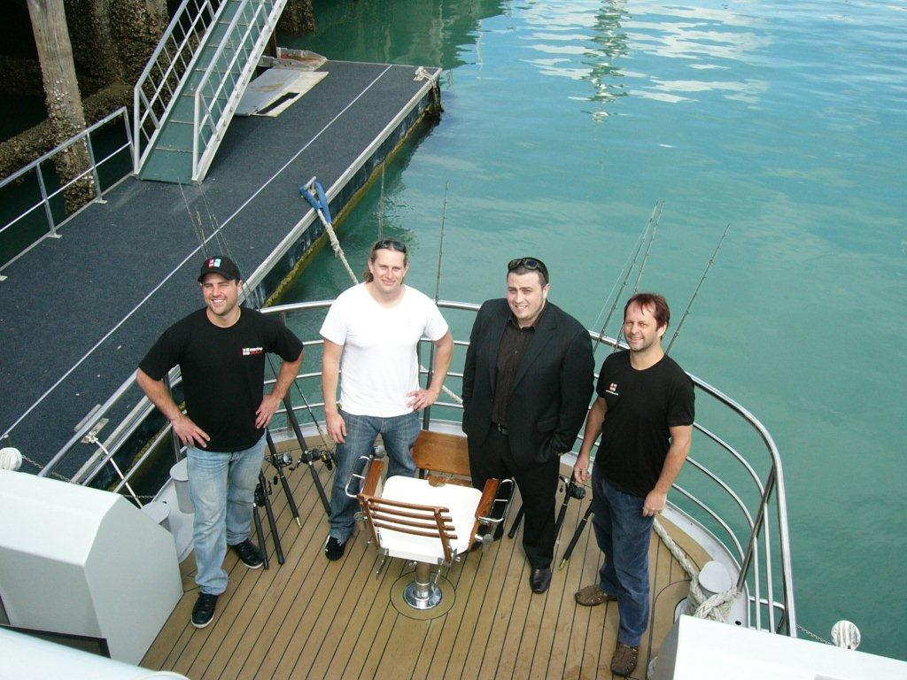 Antonio (Marine Deals), Dov, Nick and Graham (Marine Deals)