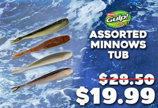 Berkley Gulp Alive 4in Assorted Minnows Soft Bait Tub