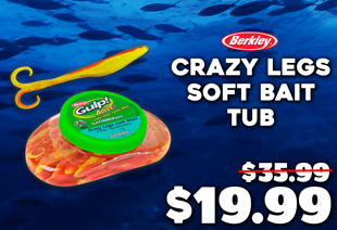 Berkley Gulp Alive 5'' Crazy Legs Soft Bait Tub Curried Chicken