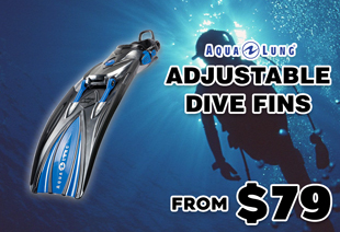 Aqualung Slingshot Adjustable Dive Fins Blue
