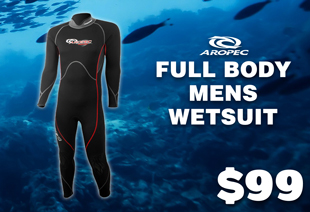 Aropec Streamline Full Body Mens Wetsuit 3mm
