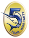 Warranty Badge - 5-Years Okuma Reel Warranty
