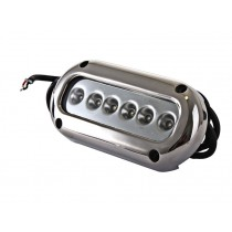 Stainless LED Underwater Boat Light Surface Mount 6 x 3W Blue LEDs