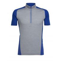 Icebreaker Mens Strike Lite Short Sleeve Half Zip Shirt Fossil/Cobalt