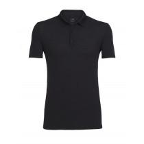 Icebreaker Mens Intrepid Short Sleeve Polo Shirt Black