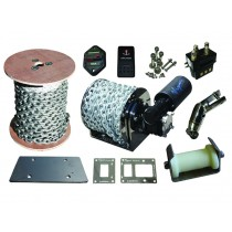 Viper Pro Series II 1000 Submersible Electric Anchor Drum Winch Bundle 12v 1000w