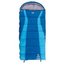 Explore Planet Earth Buckley Hooded Sleeping Bag Blue +5degC