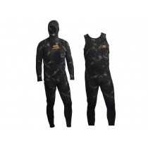Aropec Open Cell Spearfishing Wetsuit Mens 5mm 2pc Camo