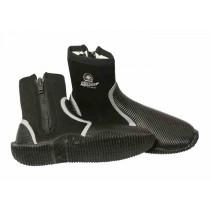 Pro-Dive 5mm Rubber Sole Zippered Dive Boots
