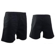 Swanndri Mid Length Rugby Shorts Black