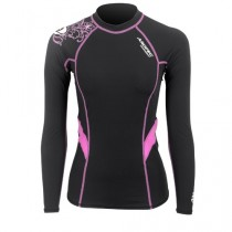Aropec Compression Womens Long Sleeve Floral Top