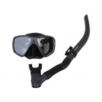 Mirage Carbon Fibre Mask and Snorkel Set Black