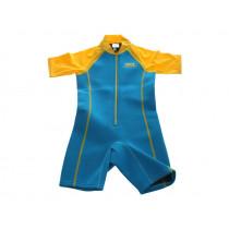 Aropec Kids Neoprene/Lycra Rashguard Wetsuit Turquoise/Yellow Size 6