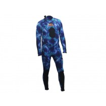 Aropec Blue Camo Spearfishing Wetsuit Mens 2mm