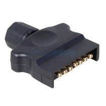 Trailparts 7 Pin Flat Trailer Plug with Quickfit B4
