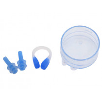 Aropec Ear Plugs and Nose Clip Set Blue