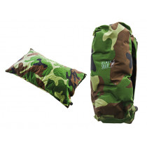 Black Shag Self-Inflating Outdoor Pillow