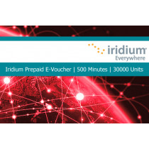 Iridium Pre-Paid E-Voucher 500 Minutes or 30000 Units 1 Year Validity