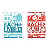 Beach Bach Barbi 2 Piece Tea Towel Set