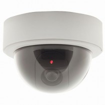 Dummy Dome Camera with Flashing LED and CCTV Sticker