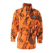 Ridgeline Mens Classic Fleece Bushshirt Blaze Camo