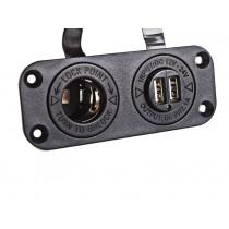 Cigarette Lighter and Dual USB Socket