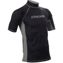 Cressi High-Stretch Mens Short Sleeve Rash Top Black